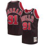 Mitchell & Ness Dennis Rodman Chicago Bulls Black 1995-96 Hardwood Classics Authentic Jersey